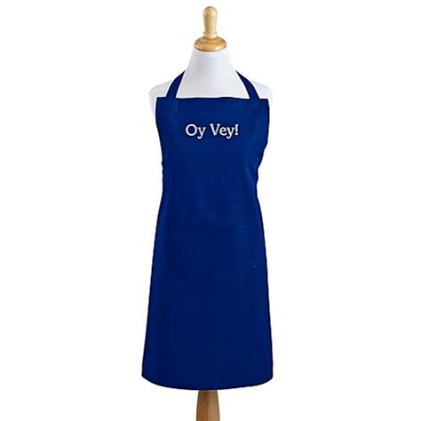 Blue Apron Gift Card Bed Bath And Beyond - oy vey apron in bright blue bed bath beyond