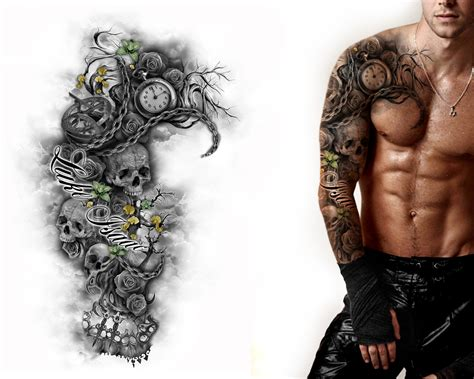 handcrafted tattoo custom sleeve drawings amazing