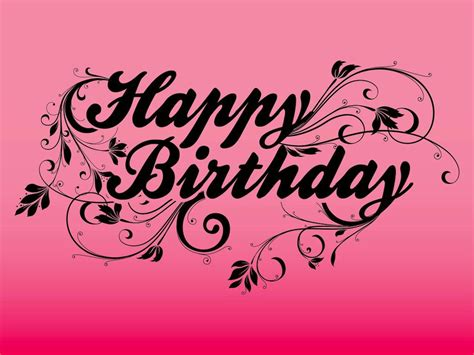 Happy Birthday Wishes Text Design | free happy birthday text art images pictures cards for