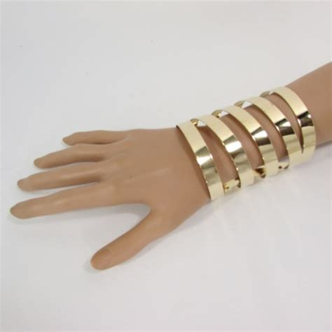 metal cuffs for jewelry 4 quot gold wide metal cuff bracelet fashion