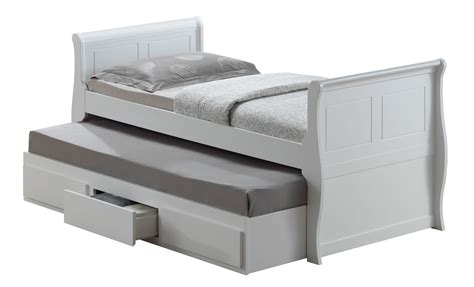 Bed With Mattress by Joseph White Wooden Oasis Guest Bed Single White Guest Bed