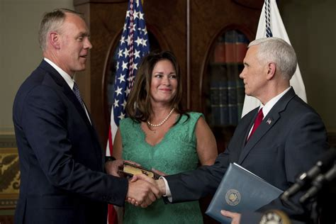 Sec Of Interior by New Interior Zinke Words Actions Differ On