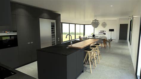 grand ilot de cuisine grand ilot cuisine cuisine avec grand ilot central 4