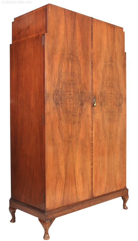 deco walnut wardrobe antiques atlas