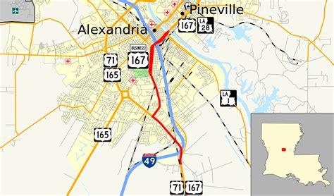 louisiana map alexandria file us 167 business alexandria map svg wikimedia commons
