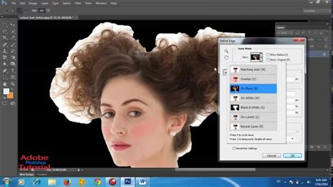 photoshop cs3 refine edge tutorial how to use refine edge and background eraser tool adobe