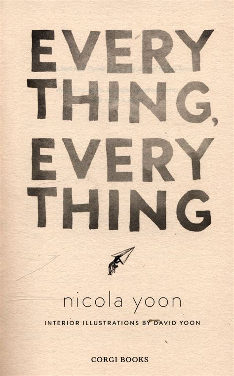 everything everything 0552574236 everything everything by yoon nicola 9780552574235 brownsbfs