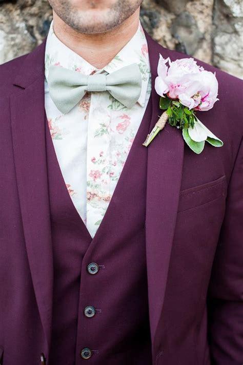 purple wedding suits  accessories wedding ideas