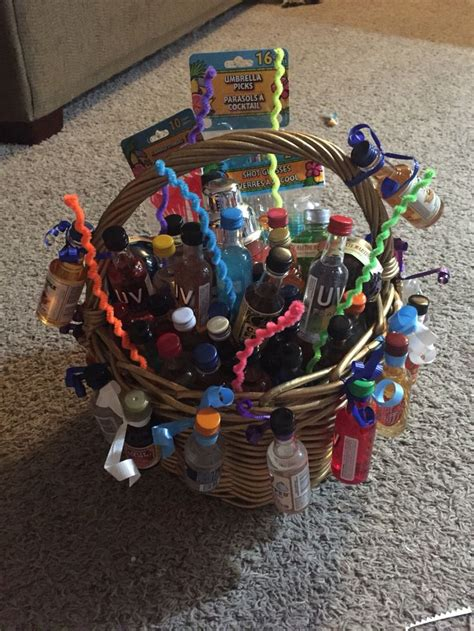 birthday themed raffle basket liquor raffle basket raffle basket ideas pinterest