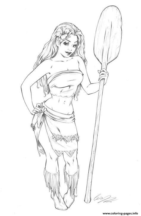 sketch book pdf moana disney princess fan coloring pages printable