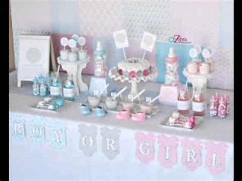DIY twin boy baby shower decorations   YouTube