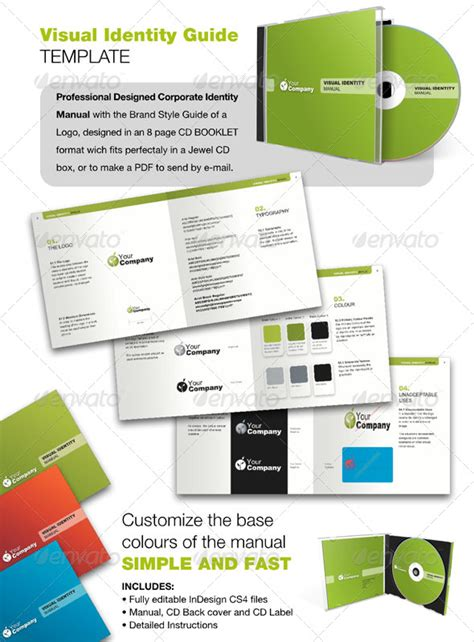 Visual Style Guide Template logo identity guide graphicriver