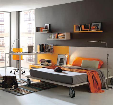 bedroom design modern baby nursery and kids room furniture from kibuc dark grey and orange