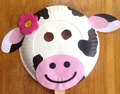 paper plate cow craft fil a cow day paper plate cow masks with free