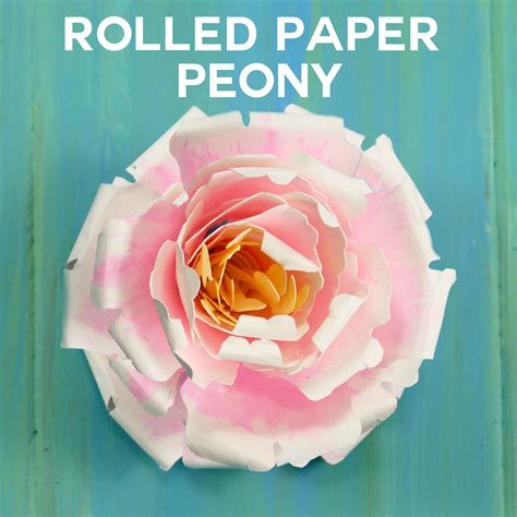 tutorial rolled paper flowers rolled paper peony flower tutorial quilling jennifer maker