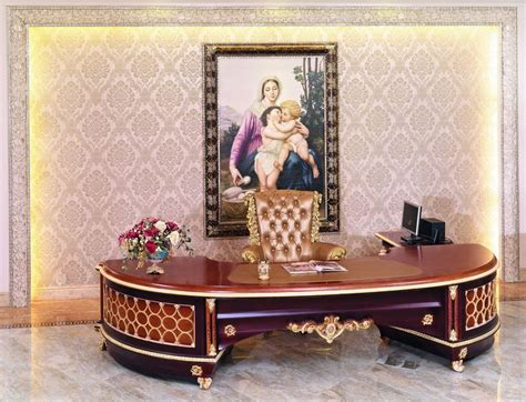 French New Baroque Classic Home Office Furniture Luxury Antique Home Office Furniture