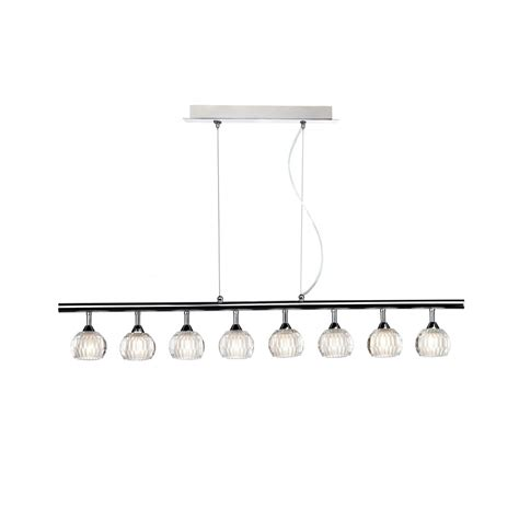 Quincy Qui0850 8 Light Bar Pendant In Polished Chrome Pendant Lighting For Bars