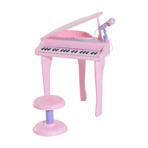 We175 Electronic Piano Bag Pink qaba 37 key baby grand digital piano with microphone and stool pink toys toys hobbies