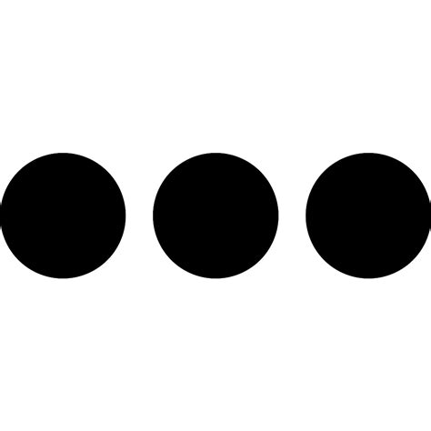 Three Buttons more with three dots button free interface icons