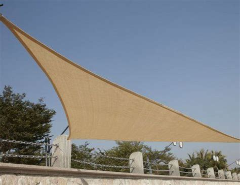 triangular patio awnings quictent canopy sun shade awning 16 5ft triangle sand by