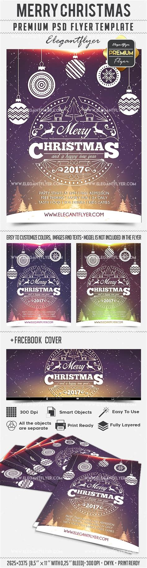 Poster Merry Christmas Psd Template By Elegantflyer Merry Flyer Template Free