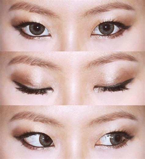 eyeliner tutorial for double eyelids 7 best make up for eyes without a fold images on pinterest