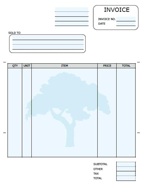 blank invoice template for microsoft word 11 invoice template