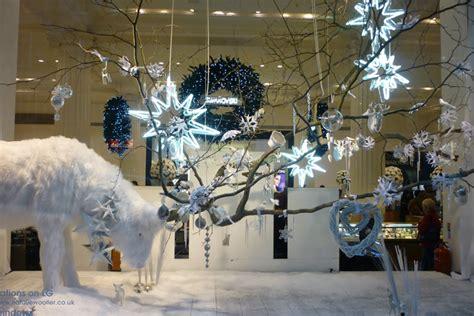 selfridges white christmas windows 187 retail design blog