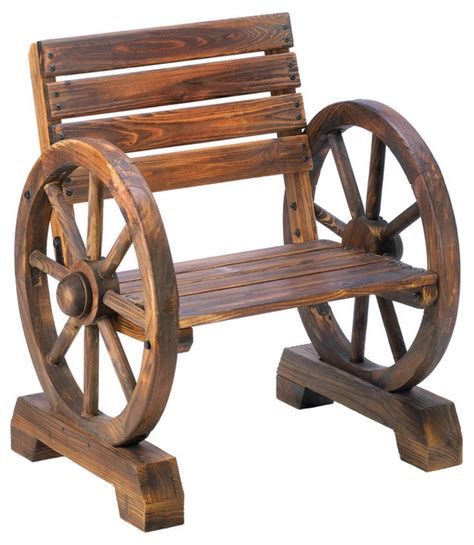 rustic wagon wheel bench home locomotion old country wagon wheel chair outdoor