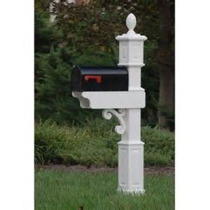 fancy home products mailbox post decorative mail box stand