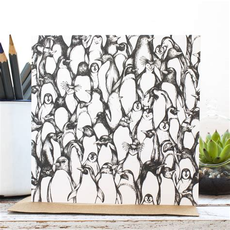 Original Penguin Gift Card - penguin waddle gift card by jessica wilde notonthehighstreet com