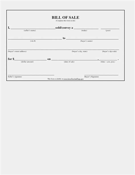 Bill Of Sale Template For Vehicle Automobile Main Image Download Spreadsheet Car Massachusetts Free Bill Of Sale Template Ga