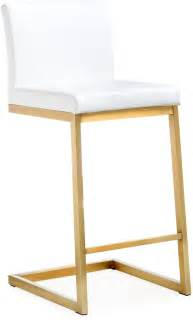Gold And White Stool by Parma White Gold Steel Counter Stool Set Of 2 From Tov