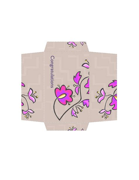Money Envelopes Templates by Envelopes Templates Money Envelope Floral Design