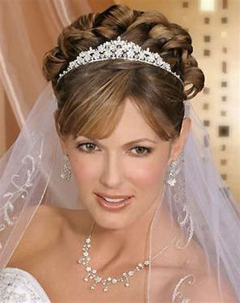 wedding hair ideas with veil and tiara tiara wedding hairstyles ideas for brides hairzstyle
