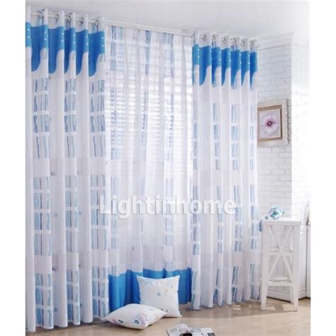 modern patterned curtains affordable privacy patterned white and blue modern