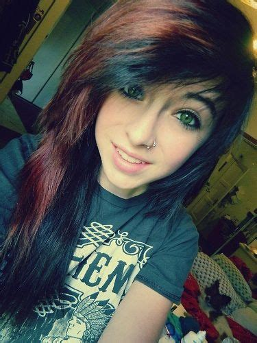 emo hairstyles brown hair 1792 best scene girl images on pinterest colourful hair