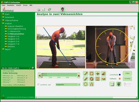 golf swing software golf swing analysis