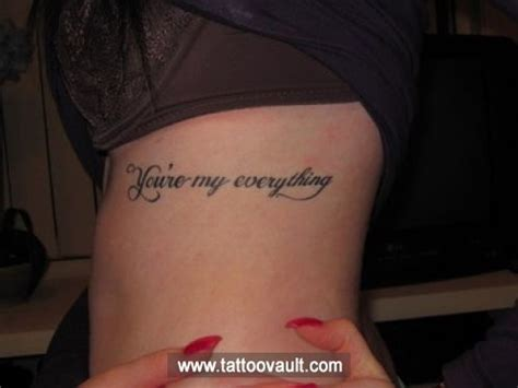 love my everything letter tattoo idea on rib check out