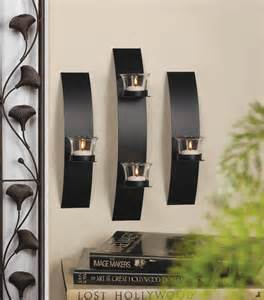 modern candle wall sconces contemporary candle wall sconce trio