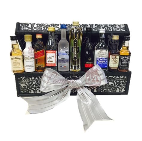 Bar Gifts The Executive Mini Bar Gift Basket By Pompei Baskets