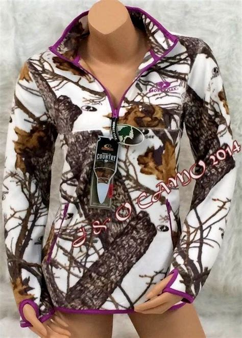 mossy oak womens jacket mossy oak white camo purple soft micro fleece jacket s m l xl 2xl fashion jewelry