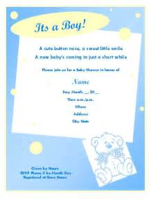 Baby Shower Templates For Boy by Baby Shower Invitation Template For Boy