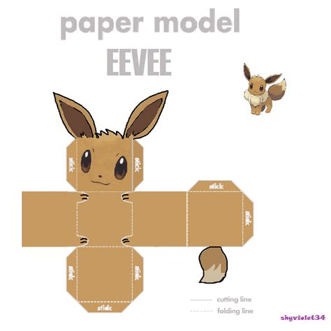 Eevee Papercraft - papercraft eevee images images