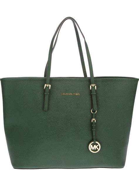 lyst michael kors tote bag  green