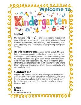 kindergarten letter editable kindly tpt