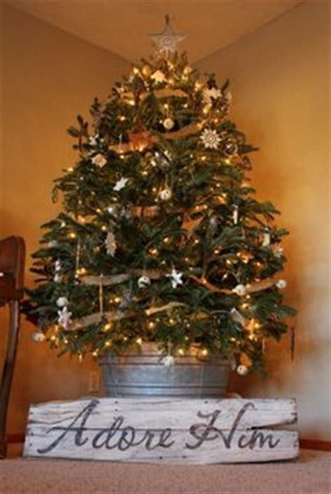pictures of christmas trees in a wash tub 1000 images about tree in galvanized on galvanized buckets