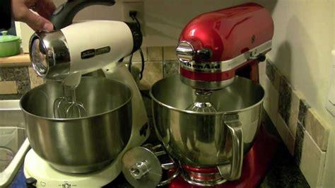 KitchenAid Artisan Mixer compared with SunBeam Heritage series Mixer   YouTube