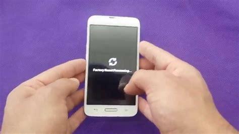 reset android lg l70 lg l70 white hard reset for metro pcs youtube