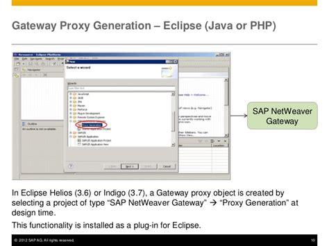 gateway pattern in java sap netweaver gateway gateway service consumption